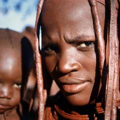 Himba Woman & Baby, Namibia