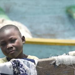 Boy, Lake Victoria, Kenya
