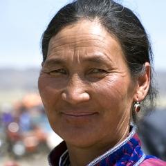 Nomadic woman, Gobi, Mongolia