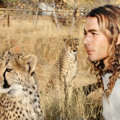 Man & Cheetah, Namibia