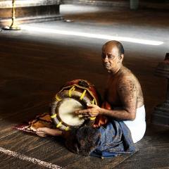Temple Musician, Colombo, Sri Lanka