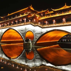 Anshun Bridge, Chengdu, China